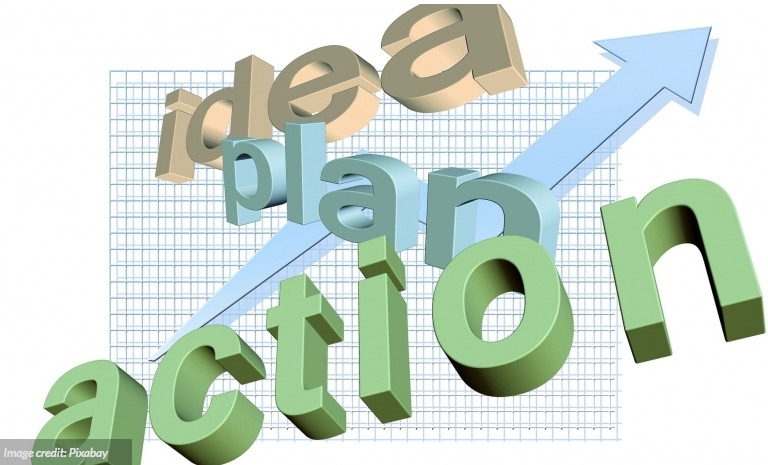 idea-plan-action for business image