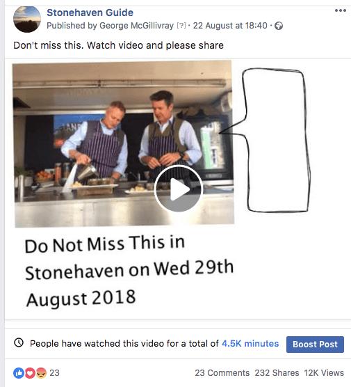 facebook post shares etc